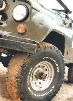 Установка больших колес на УАЗ