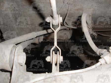 Удлиненная тяга рычага привода регулятора тормозных усилий
